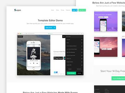 Suppo Demo Page demo ui website app