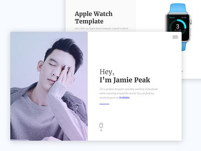 Screen - Minimal Portfolio Template icons photography portfolio ui website