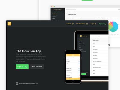Induction Home Page healthcare ui app website app