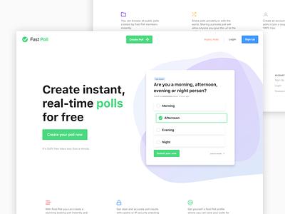 Fast Poll - Home web app minimal ui poll