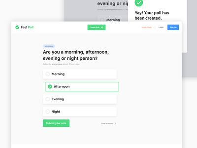 Fast Poll - Vote minimal poll ui web app