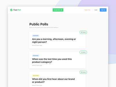 Fast Poll - Public Polls ui minimal poll vote webapp