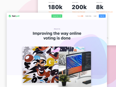 Fast Poll - About page colorful ui web about about us