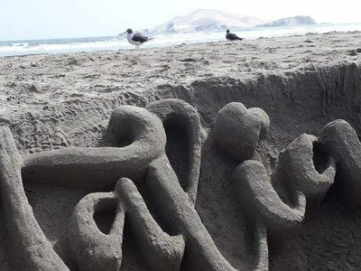 sand and wife summer calligraph love name sand