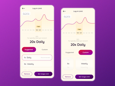 Account Log-in Limit Tool fintech application concept mobile tool feature ux ui product design design app