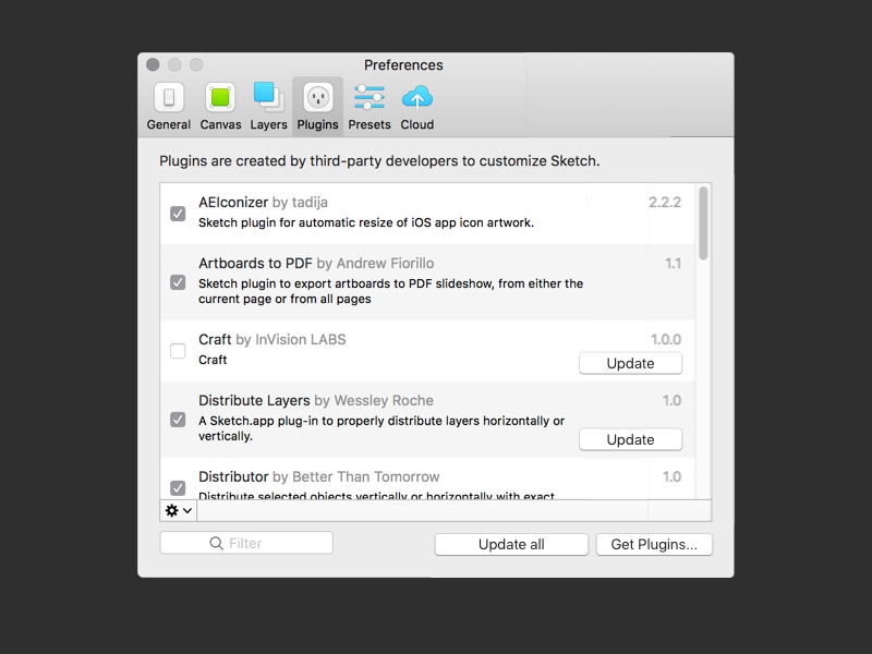 Sketch - Update Plugins Concept plugins concept sketchapp