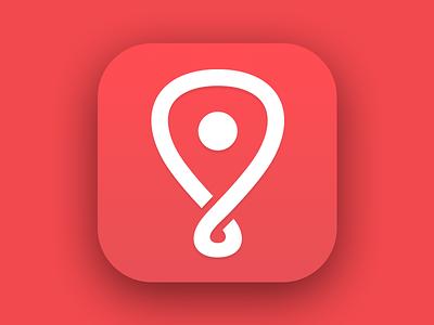 Locish App Store Icon logo branding locish app appstore icon ios