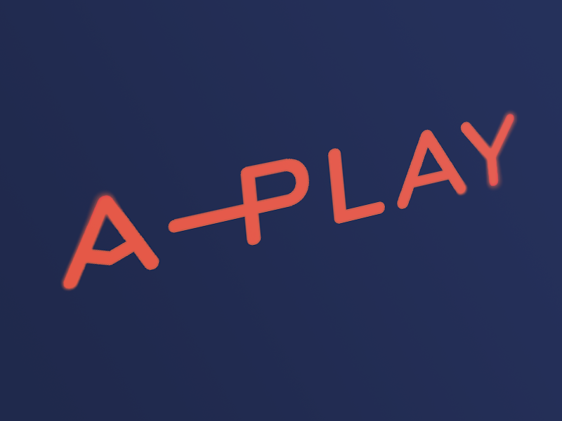 A-Play Logotype visual identity branding typography logotype logo