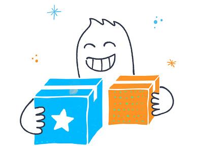 Birthday Boy freehand character handdraw illustration