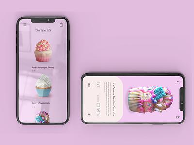 Cupcakes app ux figma design
