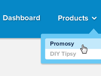 products drop down menu