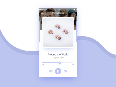 Daily UI 009 - Music Player player iphone ios app music design interface ui daily
