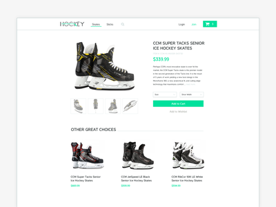 Daily UI 012 - eCommerce Shop retail hockey checkout shop ecommerce website design interface ui daily