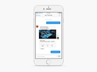 Daily UI 013 - Direct Message ticket chat message iphone ios app mobile design interface ui daily
