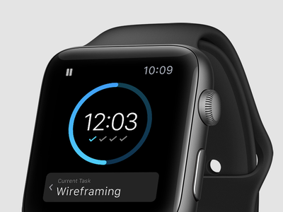 Daily UI 014 - Countdown Timer iphone timer clock apple ios app watch design interface ui daily