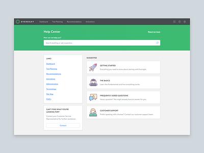 Help Center (WIP) illustration dashboard green content faq help b2b web app application