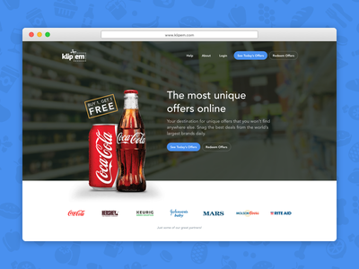 Coupon Site Redesign design web product responsive parallax landing website ecommerce