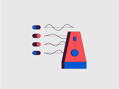 Spot Illustration - Clicks & Guides ableton live mainstage ableton music beat click waveforms wav tacks metronome illo illustration