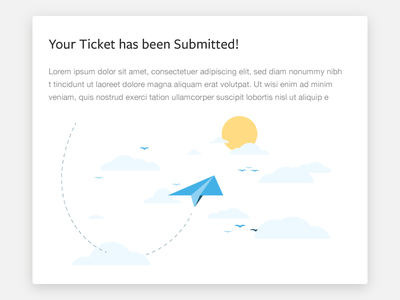 Support Ticket Submission - Illustration