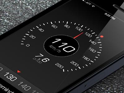 iOS7 style Speedometer App