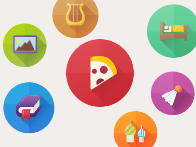some icons icon flat fresh bright app