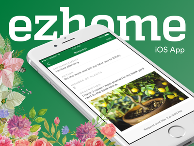ezhome iOS app san franciso iphone pattern flat interface ux ui mobile gardern ios icon app