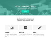 Office Ui Fabric landing page
