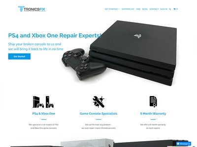 TronicsFix electronics design website webdesign ecommerce shopify