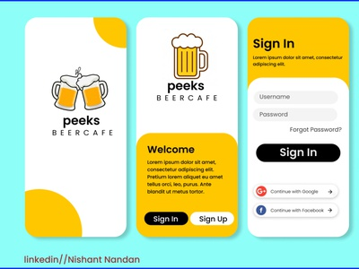 Beercafe UI designing minimal ux ui typography logo illustration icon design branding app