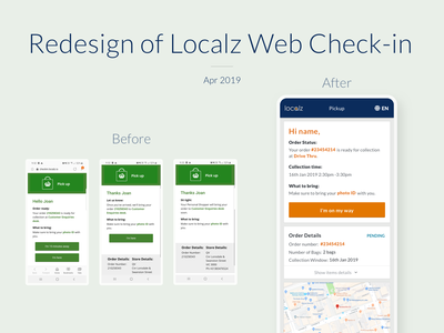 Redesign of Localz Web Check-in mobile web mobile web design web design webdesign web collection localz melbourme ui design ux ui