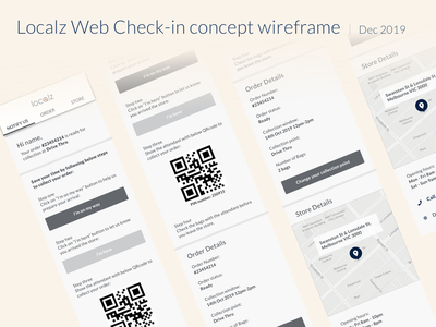 Concept wireframe of Localz Web Check-in web design website design webdesign mobile web localz ui design ux ui melbourme