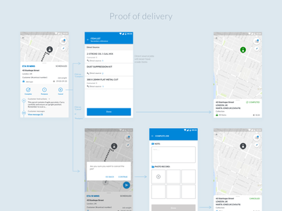 Field Service app - Proof of delivery features mobile design app design localz ui design ux ui