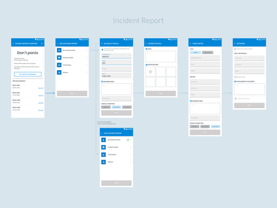 Incident report feature mobile app design incident report localz mobile app app design ui design ux ui