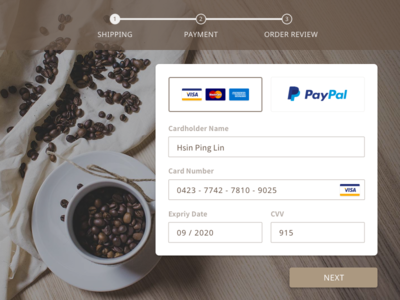 Daily Ui Challenge  #002_Credit Card Checkout