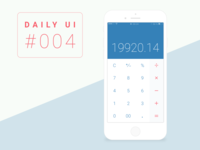 Daily UI Challenge #004_Calculator