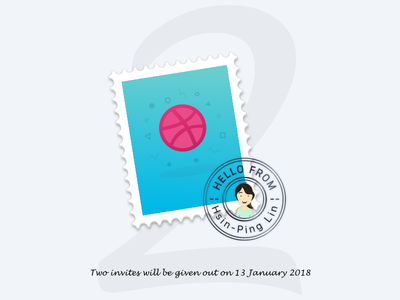 Dribbble Invitation x2 stamp mail you taiwan me invite invitation dribbble-invitation dribbble