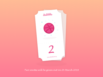 Dribbble Invitation x2 invite invitation dribbble-invitation dribbble