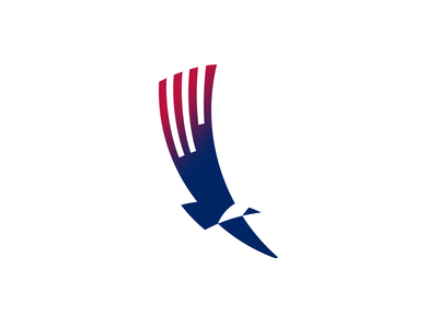 American eagle symbol icon flag wings fly bird logo eagle america usa