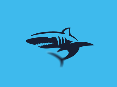 Shark logo ocean jaws fish symbol logo shark