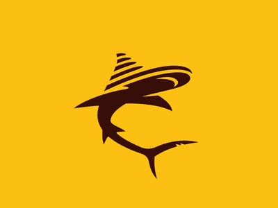 Shark sail fish logo ocean logo fish sail shark