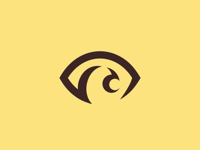 Eagle eye logo bird hawk negativespace symbol pupil eagle logo logo view eye eagle