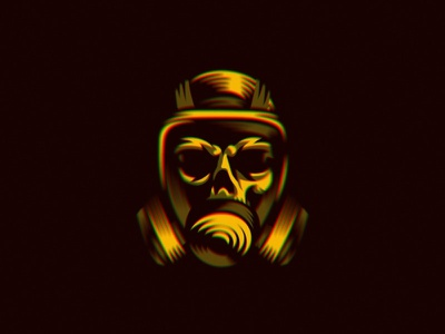 You should wear a mask... face illustration covid19 logo death skull mask