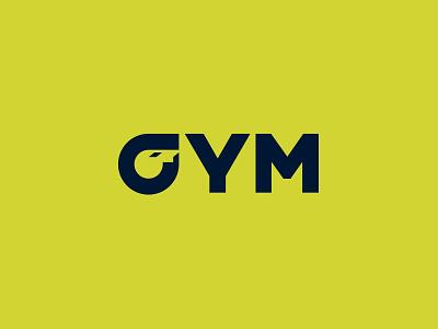 GYM logo negative space fit brand logo sport whistle gym