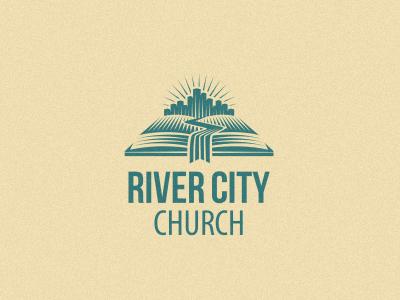 River City Church logo church river city book bookmark bible unused mark