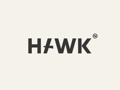 invisible hawk negative space mark bird hawk invisible lettering logo