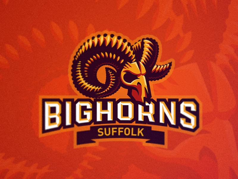 Bighorns logo sport mascot animal ram sheep horn bighorns