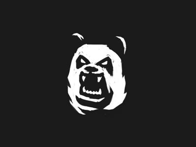 angry bear mascot angry panda bear sketch