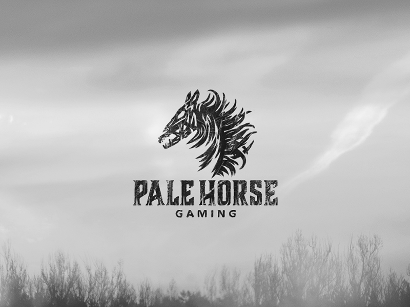 Pale Horse logo skeleton death apocalypse horse pale gaming