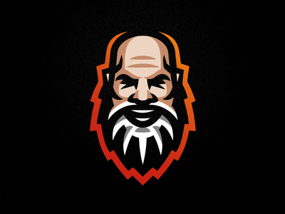 Altz Gamer emblem logo sport cybersport alzheimer old man man beared