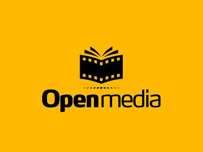 Open Media logo reading book knowledge cinema strip film media